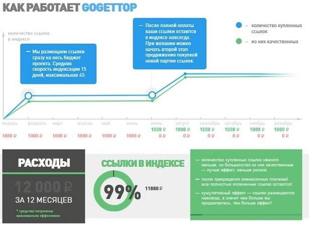 Инфографика сервиса Gogettop